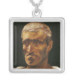 Head of a Shipwrecked Man Square Pendant Necklace