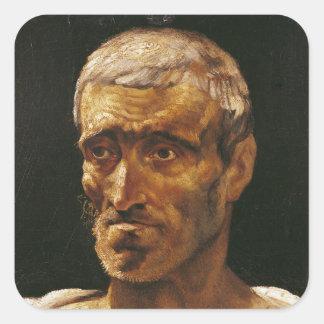 Head of a Shipwrecked Man Square Sticker