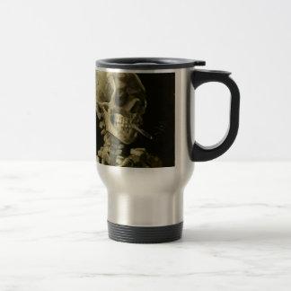 Head of a skeleton 15 oz stainless steel travel mug