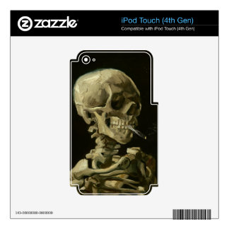 Head of a skeleton decals for iPod touch 4G