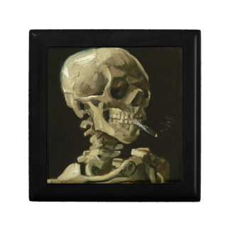 Head of a skeleton gift box