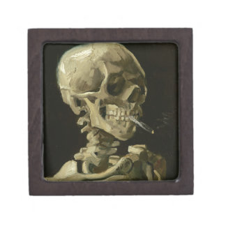 Head of a skeleton jewelry box
