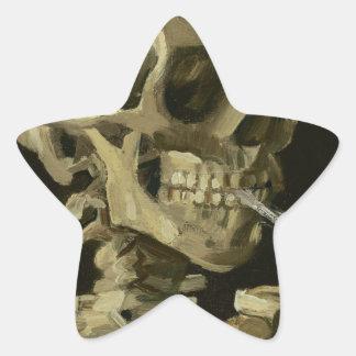 Head of a skeleton star sticker