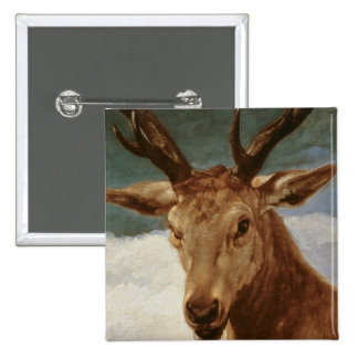 Head of a Stag, 1634 Pinback Button