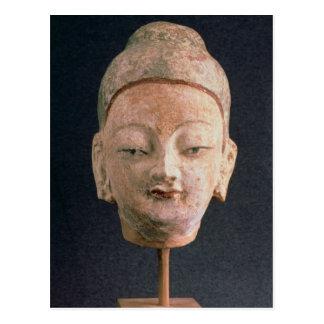 Head of a statue of Buddha, from Bezeklik Postcards