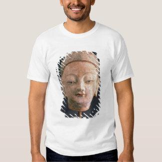 Head of a statue of Buddha, from Bezeklik T Shirt