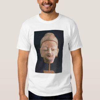 Head of a statue of Buddha, from Bezeklik Tee Shirt