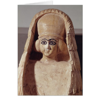 Head of a statue of Ishtar, wearing a Card