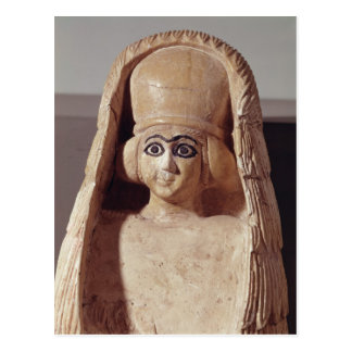 Head of a statue of Ishtar, wearing a Postcard