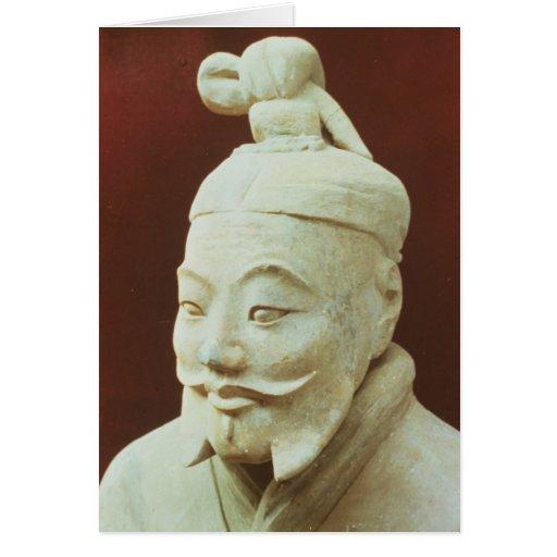 Head of a warrior, Terracotta Army Greeting Card
