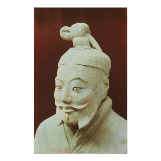 Head of a warrior, Terracotta Army Poster