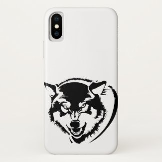 Head of a Wolf iPhone X Case