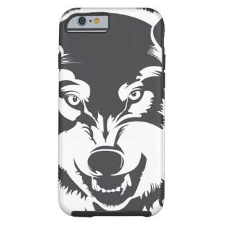 Head of a Wolf Tough iPhone 6 Case