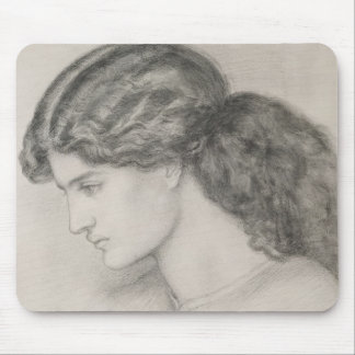 Head of a Woman, 1861 (pencil on paper) Mouse Pad
