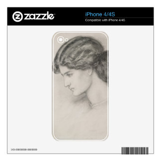 Head of a Woman, 1861 (pencil on paper) Skin For iPhone 4S