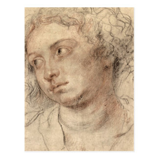 Head of a woman by Paul Rubens Post Card
