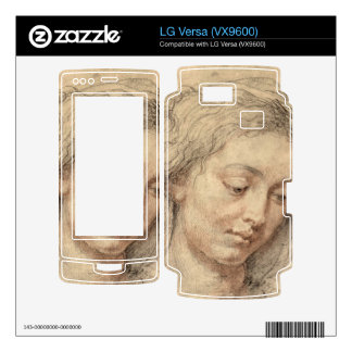 Head of a woman by Paul Rubens Decal For LG Versa