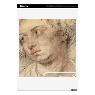 Head of a woman by Paul Rubens PS3 Slim Console Decal