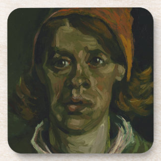 Head of a Woman by Vincent Van Gogh Coasters