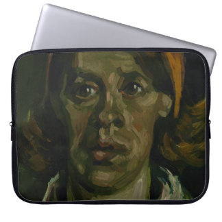 Head of a Woman by Vincent Van Gogh Laptop Sleeves