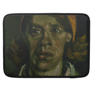 Head of a Woman by Vincent Van Gogh MacBook Pro Sleeves