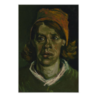 Head of a Woman by Vincent Van Gogh Photographic Print