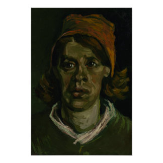 Head of a Woman by Vincent Van Gogh Poster
