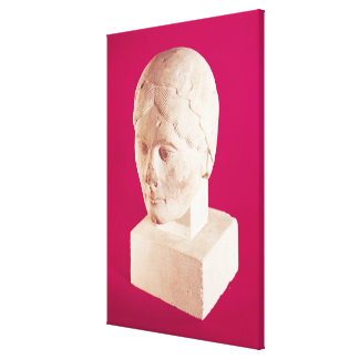 Head of a woman, from Cambrai Cathedral Canvas Print