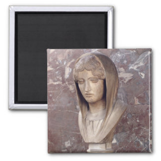 Head of a woman known as Aspasia of Miletos Magnet
