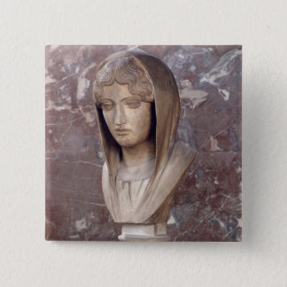 Head of a woman known as Aspasia of Miletos Pinback Button