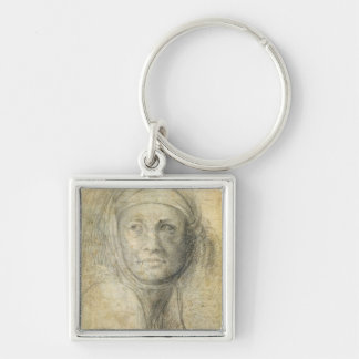Head of a Woman (pencil on paper) Keychain