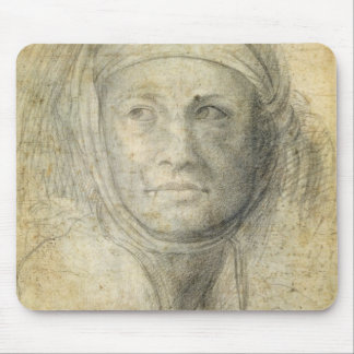 Head of a Woman (pencil on paper) Mouse Pad