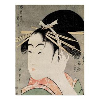 Head of a Woman Postcard