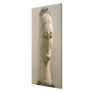Head of a Woman (stone) Canvas Print