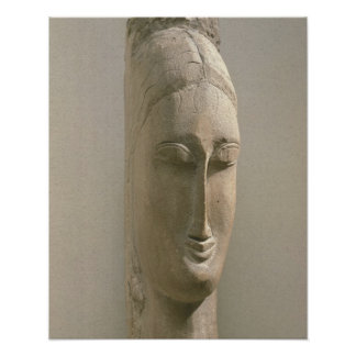 Head of a Woman (stone) Poster