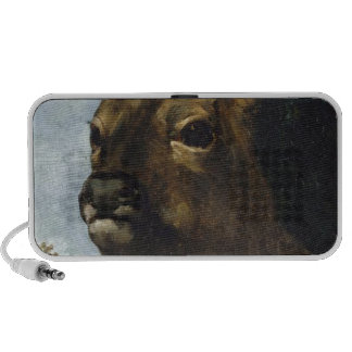 Head of a Young Doe by Gustave Courbet Mini Speakers