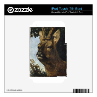 Head of a Young Doe by Gustave Courbet Skins For iPod Touch 4G