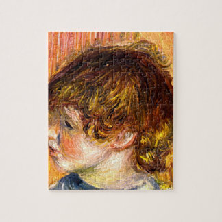 Head of a young girl by Pierre Renoir Jigsaw Puzzle
