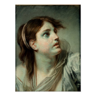 Head of a Young Girl Poster