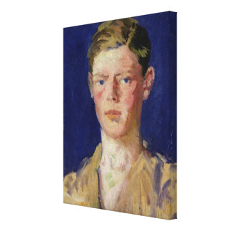 Head of a Young Man Stretched Canvas Print
