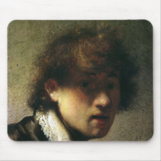 Head of a Young Man or Self Portrait, 1629 Mouse Pad