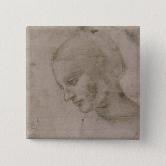 Head of a Young Woman Pinback Button
