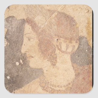 Head of a Young Woman, Velia Square Sticker