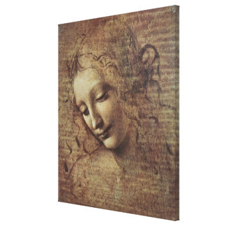 Head of a Young Woman with Tousled Hair or, Leda Canvas Prints