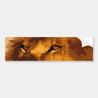 Head of African Lion Car Bumper Sticker
