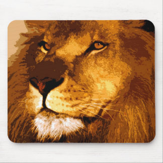 Head of African Lion Mouse Pad
