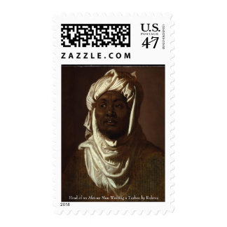 Head of an African Man Wearing a Turban by Rubens Postage Stamp