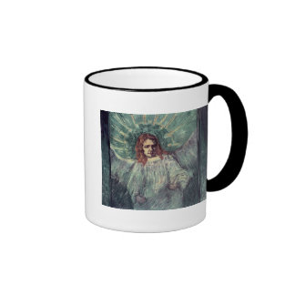 Head of an Angel, after Rembrandt, 1889 Ringer Coffee Mug