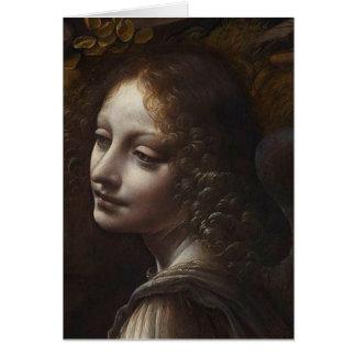 Head of an Angel by Leonardo da Vinci Greeting Card