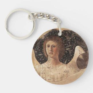 Head Of An Angel by Piero della Francesca Single-Sided Round Acrylic Keychain